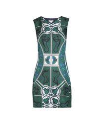 Whistles Green Medallion Print Dress