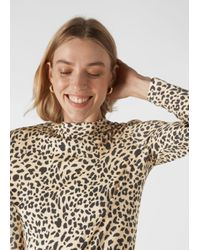 Whistles Multicolor Brushed Cheetah Essential Top