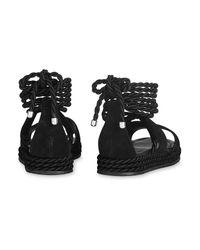 Whistles Black Mimosa Rope Flatform Sandals