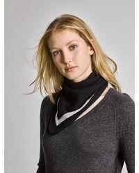 White + Warren - Black Cashmere Framed Neck Scarf - Lyst