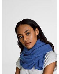 White + Warren | Blue Cashmere Wrap Scarf | Lyst
