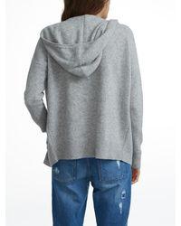 White + Warren Gray Essential Cashmere Zip Hoodie