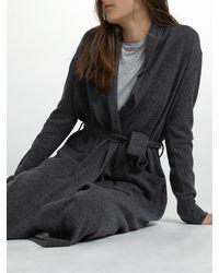 White + Warren | Gray Long Cashmere Robe | Lyst