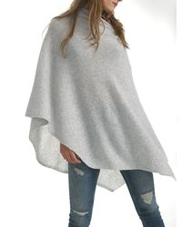 White + Warren | Gray Cashmere Two Way Angled Topper | Lyst