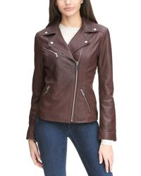 Wilsons Leather Brown Leather Jacket With Metallic Details