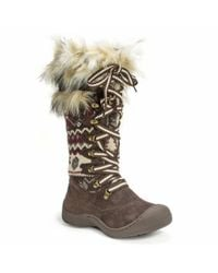 Wilsons Leather - Brown Muk Luks® Laced Cold Weather Boot W/ Faux Fur Trim - Lyst