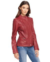 Wilsons Leather Red Long Multi Seamed Lamb Scuba