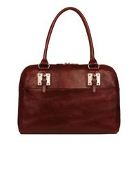 Wilsons Leather Red Roma Leather Laptop Case