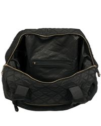 Wilsons Leather Black Marc New York Quilted Duffel for men