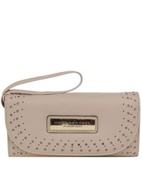 Wilsons Leather - Multicolor Marc New York Perforated Flap Over Faux-leather Wallet - Lyst