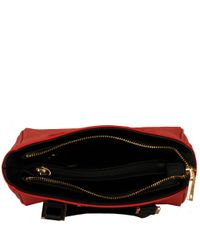 Wilsons Leather Red Marc New York Saffiano Leather Mini Satchel