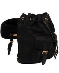 Wilsons Leather Black Marc New York Front Buckle Nylon Backpack