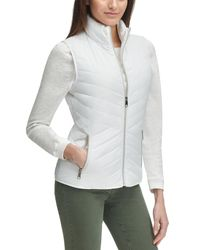 Wilsons Leather White Puffer Zip Up Vest