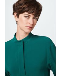 Windsor. Green Crêpe-Bluse
