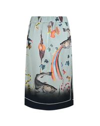 Klements - Blue Scarf Skirt In Rainbow Trout Print - Lyst
