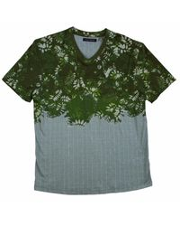 Lords of Harlech Green Patriot Tee In Olive Stripe for men