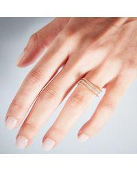 KIND Jewellery - Metallic Silver Demi Lune Ring - Lyst