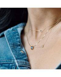 Aletheia & Phos Metallic Cor Luna Necklace White Topaz