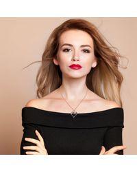 Latelita London - Multicolor Diamond Large Open Heart Necklace - Lyst