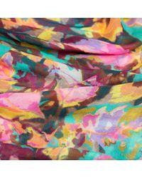 Liz Nehdi Multicolor Claro De Luna Cashmere Blend Scarf