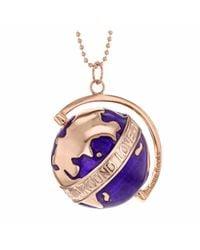 True Rocks - Multicolor Large Globe Necklace Rose Gold & Purple Enamel - Lyst