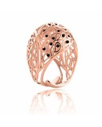 Sonal Bhaskaran | Multicolor Shikhara Rose Gold Dome Ring Black Spinel | Lyst