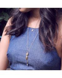Bark - Metallic Silver Palm Reader Necklace - Lyst