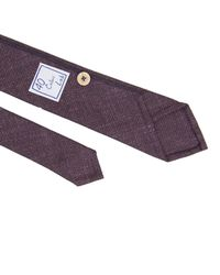 40 Colori Red Burgundy Solid Tie for men