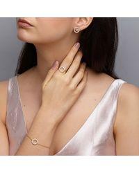 Dione London - Metallic Nyx Diamond Circle Ring - Lyst