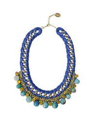 Ricardo Rodriguez Design - Blue Agate Statment Necklace - Lyst