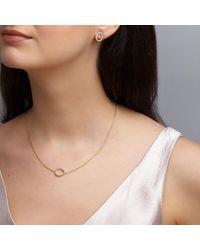Dione London - Metallic Nyx Diamond Tear Stud Earrings - Lyst