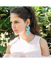 Ricardo Rodriguez Design - Blue Eden Earrings - Lyst