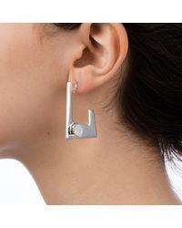 Nadia Minkoff - Multicolor Geo Earring Silver White Opal - Lyst