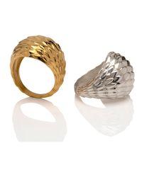MARINA SKIA | Metallic The Viper Bombe Ring 22ct Vermeil | Lyst