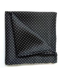 Tyler And Tyler | Black & White Spot Pocket Square for Men | Lyst