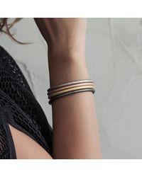 Durrah Jewellery - Metallic Silk Bracelet - Lyst