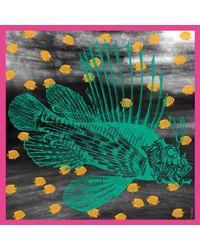Tal Angel - The Great Green Fish Silk Scarf - Lyst