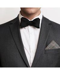 Robinson & Dapper White Bw Tweed Pocket Square for men