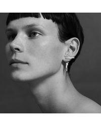 aka jewellery - Metallic Concord Double Sided Earrings Gold - Lyst