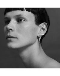 aka jewellery | Metallic Concord Double Sided Earrings Silver | Lyst