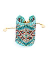 Azuni London - Blue Azteca Wide Toggle Cuff In Spirit - Lyst