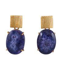 Magpie Rose | Purple Solar Quartz Earrings | Lyst