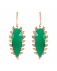 Meghna Jewels - Claw Earring Green Onyx Alt - Lyst