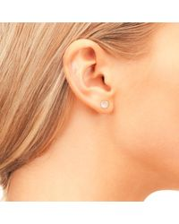 Latelita London - Pink Petite Stud Earring Rose Quartz Rosegold - Lyst