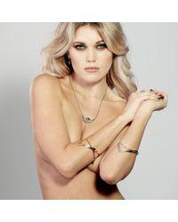 Lee Renee - Metallic Heathcliff Heart Bangle Gold - Lyst