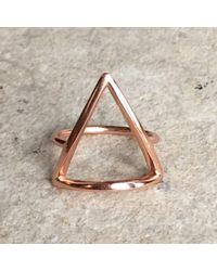 Latelita London - Multicolor Cosmic Triangle Ring Rosegold - Lyst
