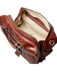 Maxwell Scott Bags - Luxury Italian Leather Small Travel Bag Fleros Dark Chocolate Brown for Men - Lyst