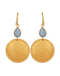 Carousel Jewels - Multicolor Chalcedony & Hammered Disc Earrings - Lyst