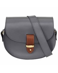 N'damus London - Gray Victoria Grey Cross Body Bag - Lyst