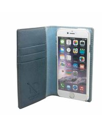 N'damus London - Gray Grey Leather Iphone 6 Plus & Card Holder Case Clear Cradle - Lyst